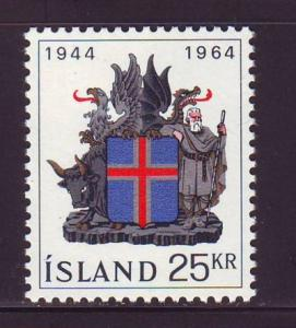 Iceland Sc 362 1964 20th anniversary Republic stamp NH