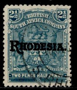 RHODESIA EDVII SG103, 2½d pale dull blue, FINE USED.