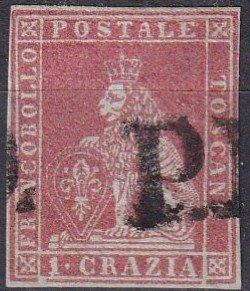Tuscany #4 F-VF Used CV $180.00 (Z1745)