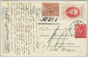 ARGENTINA - POSTAL HISTORY: POSTCARD to SWITZERLAND 1939 - TAXED on arrival