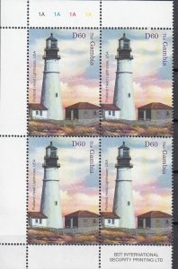 Gambia, SG4710, MNH, 2004, Lighthouse - Block of 4
