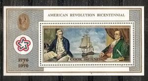 Cook Isls.  447 MNH 1976 American Bicentennial Sheet