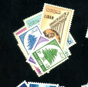 LEBANON # 296-99 302-5 MINT VF LH Cat $28
