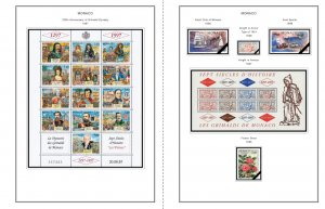 COLOR PRINTED MONACO 1885-2010 STAMP ALBUM PAGES (346 illustrated pages)