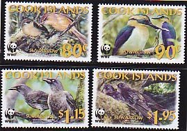 Cook Islands MNH 1270-3 Birds Of Cook Islands WWF 2005