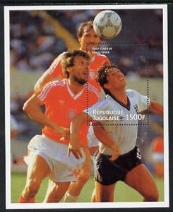 Togo 1998 (?) Football perf m/sheet (Gary Lineker) unmoun...