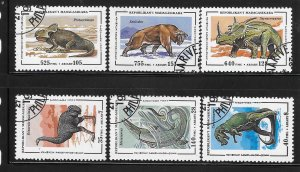 Malagasy 1995 Prehistoric Animals Dinosaurs Sc 1174-1179 Used A1833