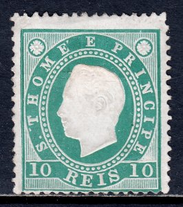 St. Thomas and Prince Islands - Scott #16 - MH - See description - SCV $4.25