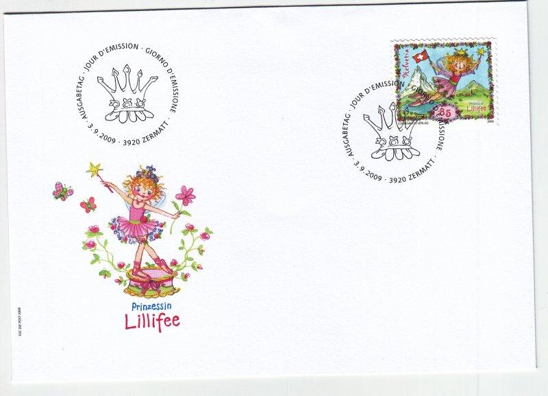 2009, Switzerland: Princess Lillifee, FDC (S18896)