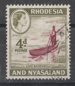 Rhodesia & Nyasaland 1959/1963 QEII Portrait & Various Designs 4p (1/15) USED