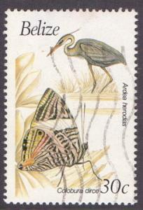Belize   #936   used   1990  birds and butterflies 30c