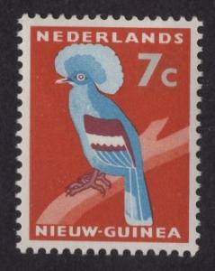 Netherlands New Guinea   #24  MH 1954  crowned pigeon  7c