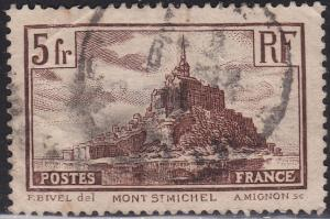 France 250 USED 1931 Mont St Michel 5Fr