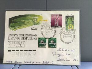 Lithuania 1991 stamps cover R29363