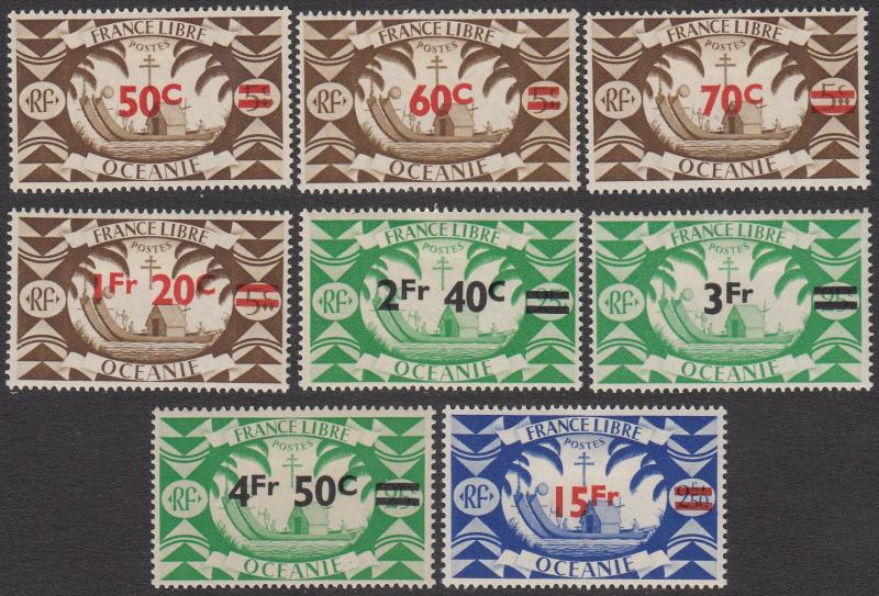 French Polynesia 152-159 MH CV $9.75