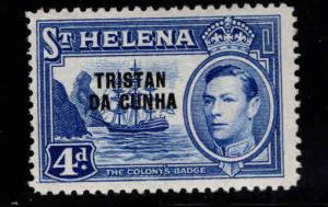 Tristan da Cunha Scott 6, MH* St Helena overprint
