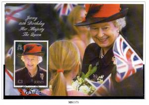 Jersey Sc 1505a 2011 £3 80th Birthday QE II stamp sheet used