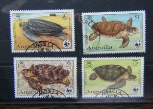 Anguilla 1983 Endangered Species Turtles set VFU