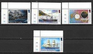Tristan da Cunha 1143-46 140th Wreck of the Mabel Clark set MNH