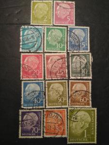 1955 West German Germany Bundespost stamp set lot