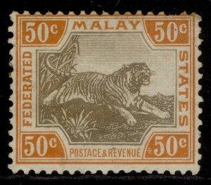 MALAYSIA - Federated Malay EDVII SG74, 50c black & orange, M MINT. Cat £13.