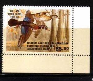 Arkansas No 2 Duck Stamp LR Wood Ducks Mint NH