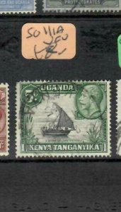 KENYA,UGANDA, TANGANYIKA (P1405B) KGV  5C   BOAT  SG 111A    VFU