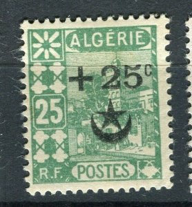 FRENCH; ALGERIA 1927 Wounded Soldiers issue fine Mint hinged 25c. value