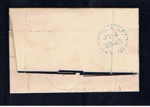 1845 UNIFORM PENNY POST NEWTOWN MOUNT KENNEDY