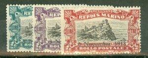 BD: San Marino B12-17 mint CV $66.50; scan shows only a few