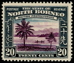 NORTH BORNEO SG312, 20c violet & slate-blue, LH MINT. Cat £28