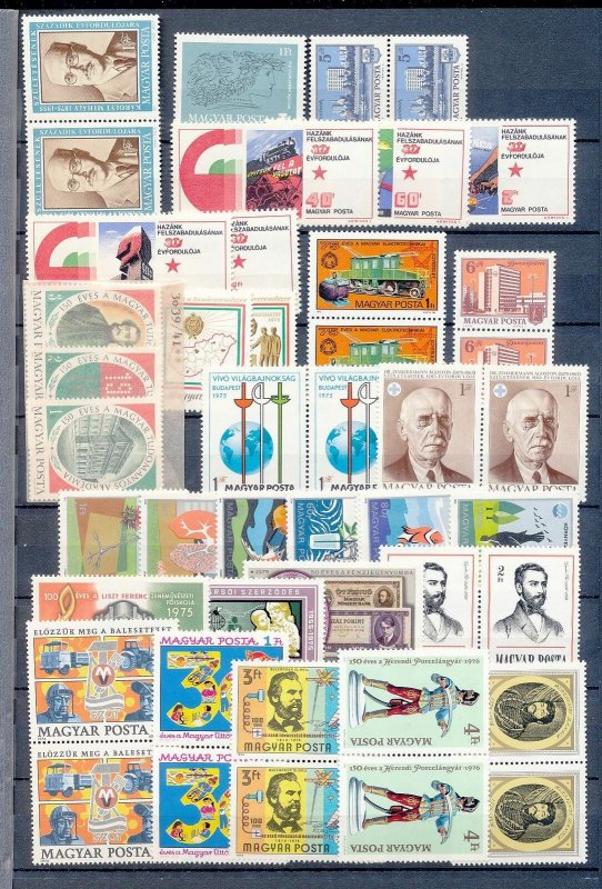 HUNGARY 1970s Sport Costumes Wildlife Air MNH (80+Stamps)(H357