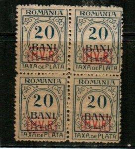 Romania Scott 3NJ5 Mint NH block [TE911]