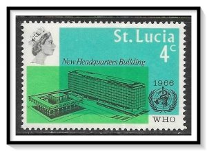 St Lucia #209 WHO Headquarters MH