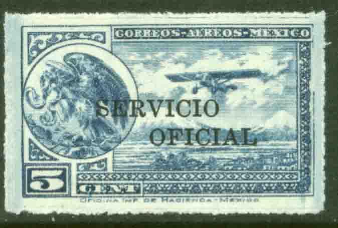 MEXICO CO25, 5cents OFFICIAL AIR MAIL. MNH F-VF