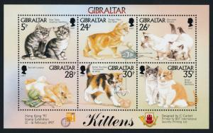 Gibraltar 726 MNH Cats