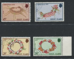 STAMP STATION PERTH Gilbert Is.#317-320 Christmas Issue VFU 1978 CV$1.00
