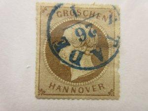 German States  HANOVER  Scott  29  (Fault thin)  USED  LotF  Cat $70