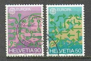 SWITZERLAND Sc# 822 - 823 USED FVF Set of 2 Europa