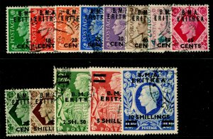 BRITISH OC OF ITALIAN COLONIES SGE1-E12, COMPLETE SET, FINE USED. Cat £70.