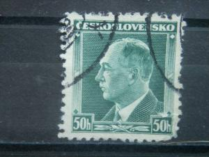 CZECHOSLOVAKIA, 1937, used 50h, Benes, Scott 227