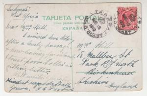 GOLD COAST, 1910 ppc. Grand Canary, Los Chorros, 1d. KEVII, TARKWA to GB.