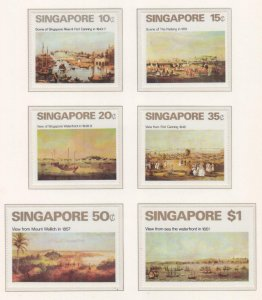 SINGAPORE, 1971 Art set of 6, mnh.