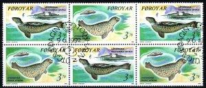 Faroe Islands #240a F-VF Used Booklet Pane CV $17.50 (X9079L)