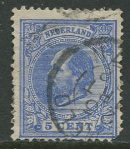 Netherland - Scott 23 - King William III -1872- Used - Single 5c stamp