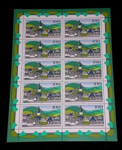 GERMANY, 1995, SCENIC REGIONS, SHEET/10, MNH, NICE! LQQK!