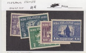 J25792  jlstamps 1930 iceland short set mh #152-6 designs