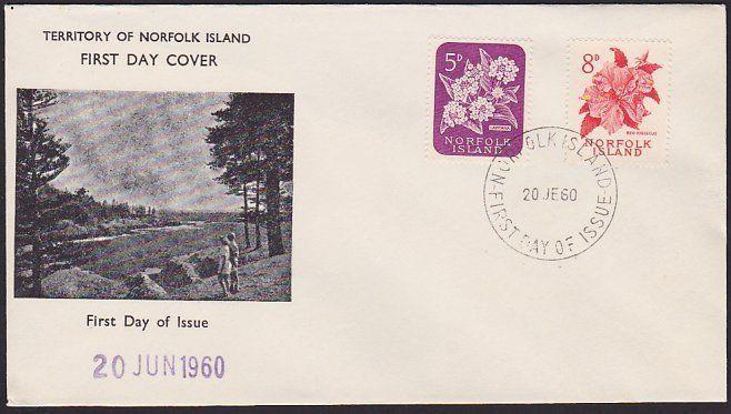 NORFOLK IS 1960 (June) definitives FDC.....................................67759