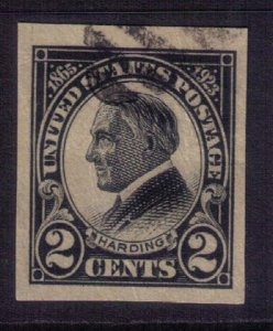 US SCOTT #611 USED IMPERF SINGLE VERY FINE