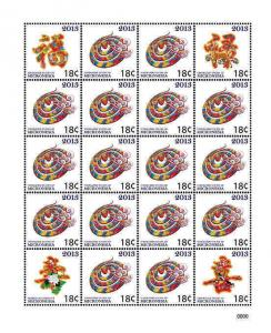 Micronesia - Year of the Snake - 20 Stamp Sheet - MIC1301H